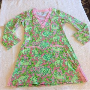 Lilly Pulitzer Cat Fish Terry Cover up-S